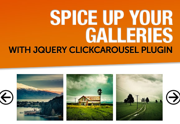 Spice Up Your Galleries with jQuery clickCarousel Plugin