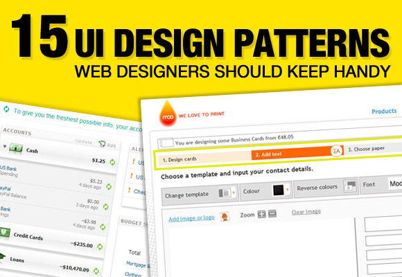 15 UI Design Patterns Web Designers Should Keep Handy