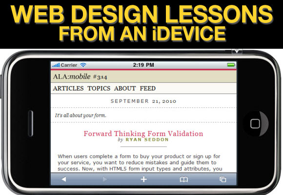 Web Design Lessons from An iDevice