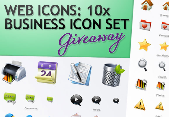 Web Icons: 10 x Business Icon Set Giveaway