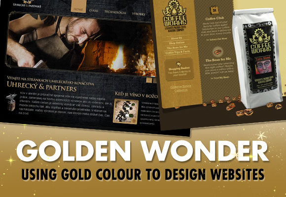 Golden Wonder: Using Gold Colour to Design Websites