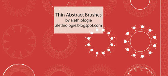 Thin-Abstract Illustrator Brushes