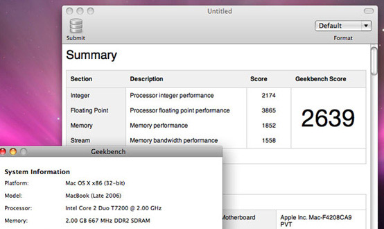 GeekBench Mac App