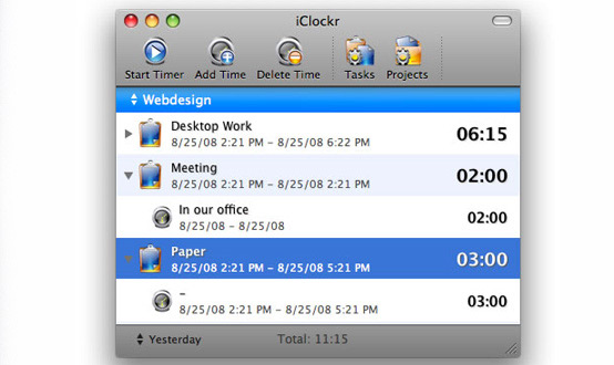iClockr Mac App