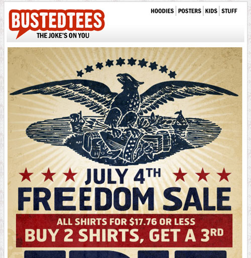 Busted Tees Newsletter