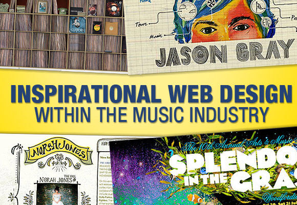 Inspirational Web Design Within the Music Industry