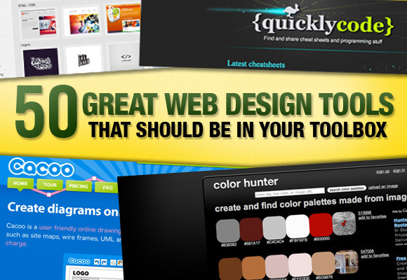 50 Great Web Design Tools That Should Be In Your Toolbox