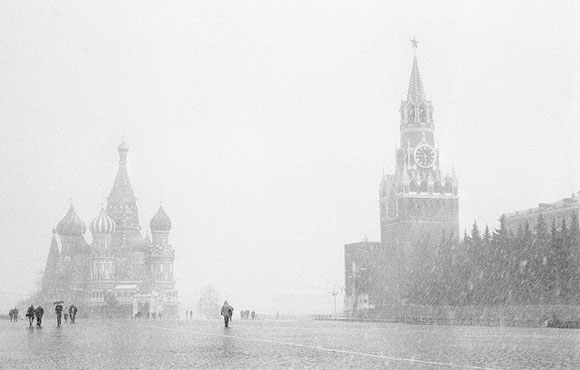 April Snow in Red Square