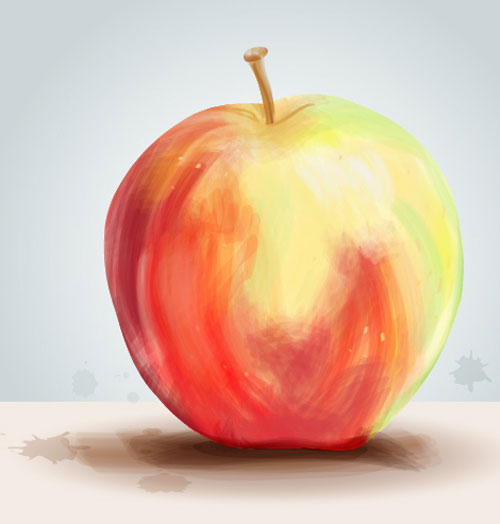 Painterly Apple
