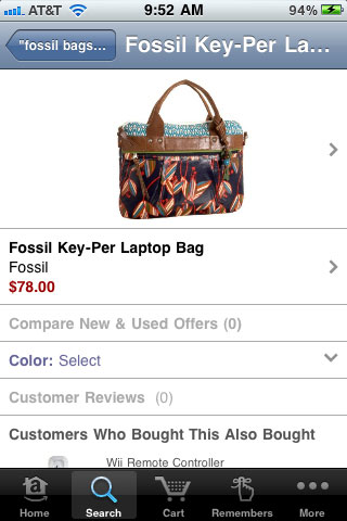 Amazon Mobile Product Detail Page