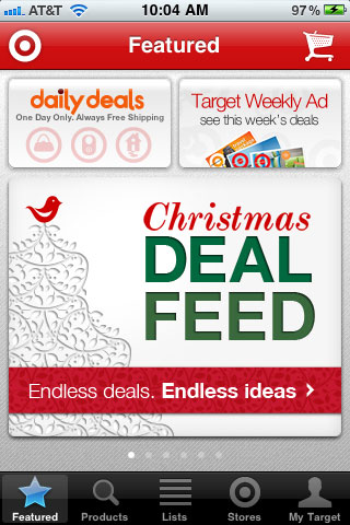 Target limits their homepage creative