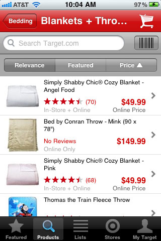 Target Product Thumbnails