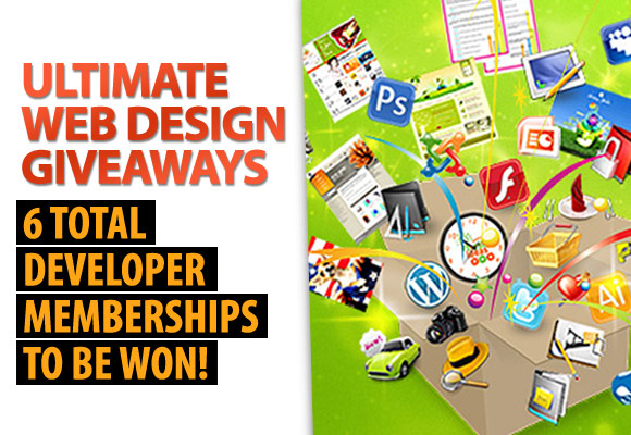 Ultimate Web Design Giveaways: 6 Total Developer Memberships To Be Won!