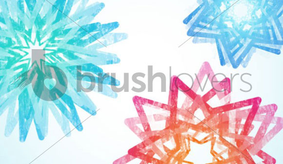 Spinning Stars Brushes