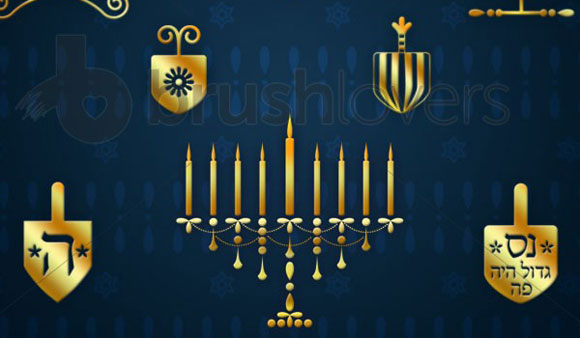 Hannukah Bumper Set Brushes
