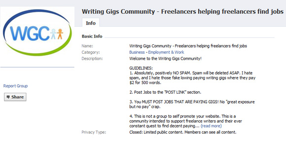 Writing Gigs Community · Freelance Switch