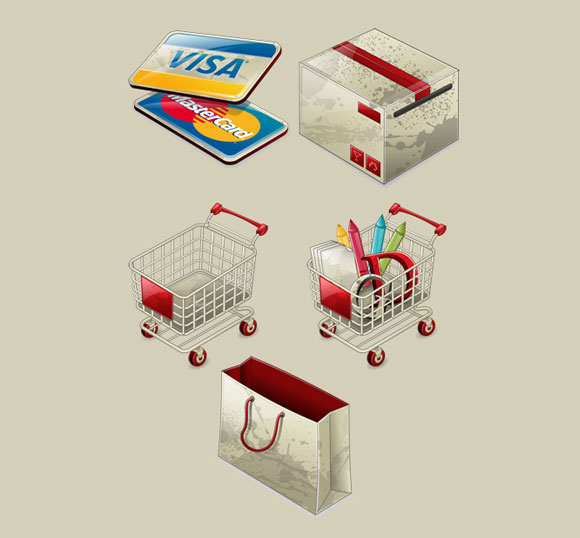 Free E-Commerce Icons from IconsShock