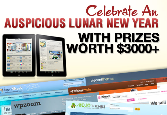 Celebrate An Auspicious Lunar New Year with Prizes worth $3000+