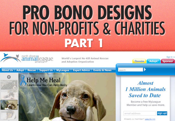 Pro Bono Designs for Non-Profits and Charities, Part 1