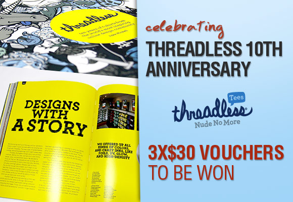 Threadless 10th Anniversary: 3x$30 vouchers to be won
