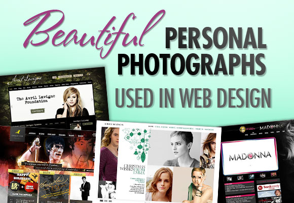 Beautiful Personal Photographs Used in Web Design
