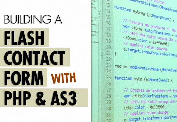 Building a Flash Contact Form with PHP and AS3