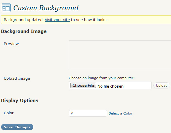Step 12 – Custom Backgrounds, Feed Links