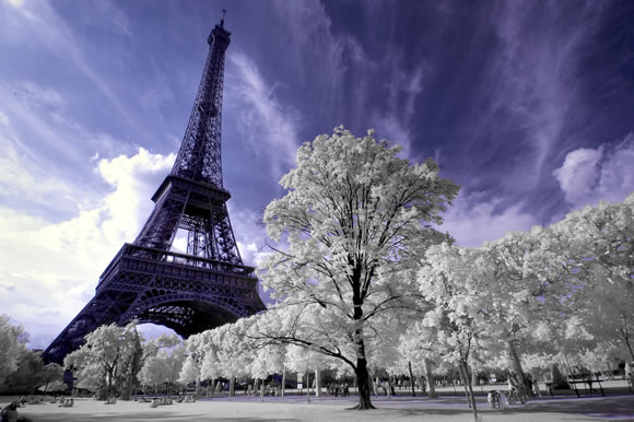 Eiffel Tower in Infrared