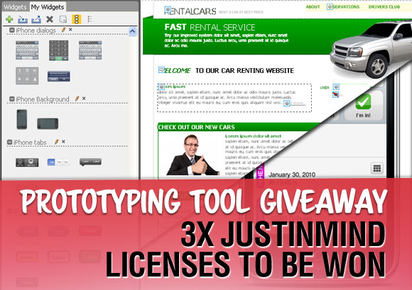 Prototyping Tool Giveaway: 3 x Justinmind Licenses to be Won