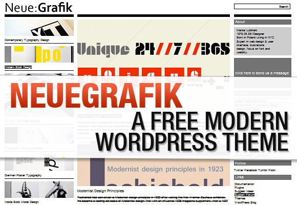 NeueGrafik: A Free Modern WordPress Theme