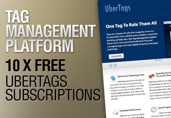 Tag Management Platform - 10 x Free UberTags Subscriptions
