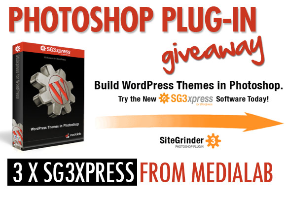 Photoshop Plug-in Giveaway: 3 x SG3xpress from MediaLab