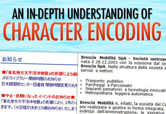 An In-depth Understanding of Character Encoding
