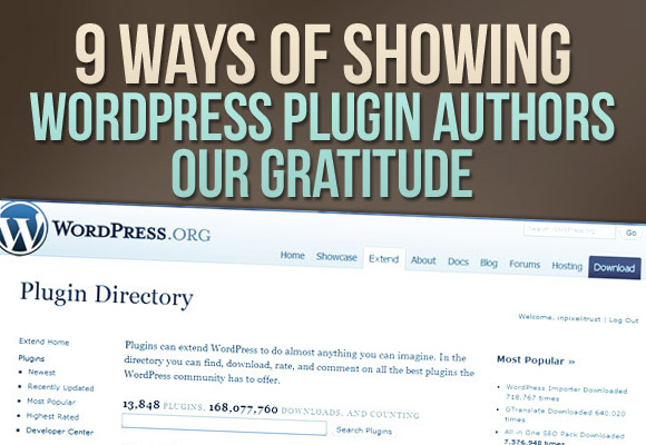 9 Ways of Showing WordPress Plugin Authors our Gratitude