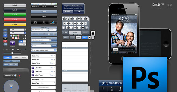 iPhone GUI PSD Version 4