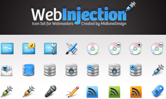 Web Injection Icon Pack