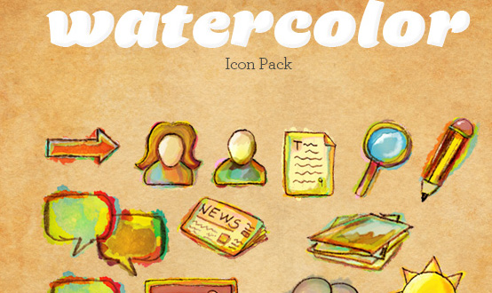 Watercolor Icons Pack