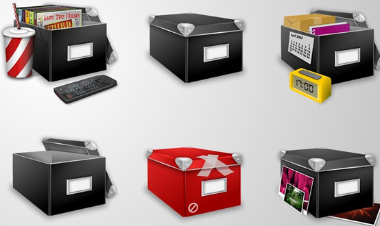Boxes Icons Set