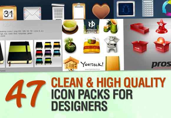47 Clean and High Quality Icon Packs for Designers