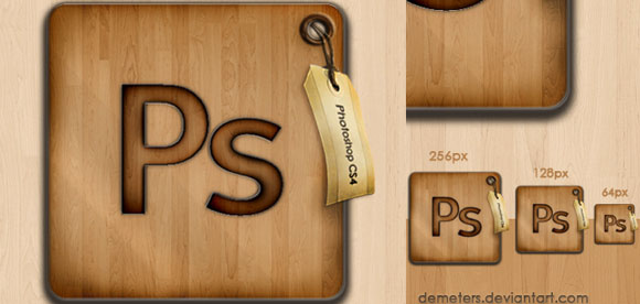 Wood Photoshop Icon