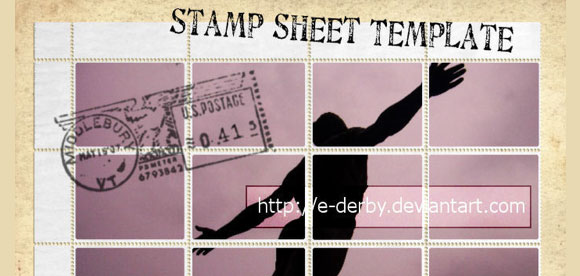 Stamp Sheet Template