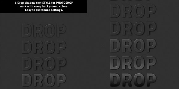 Drop shadow Photoshopstyle