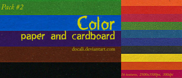ColorPaper Cardboard Pack02