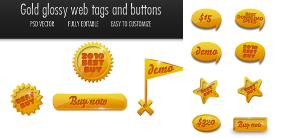 Gold 16web Elements