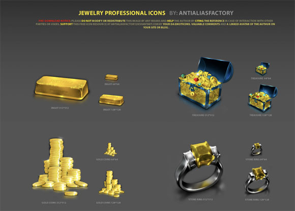Jewelry Professional Icons