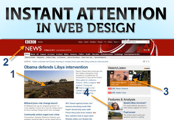 Instant Attention in Web Design