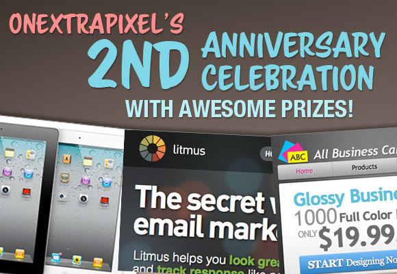 Onextrapixel's 2nd Anniversary Celebration with Awesome Prizes