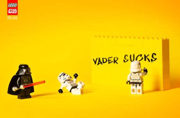 Lego starwars graffiti