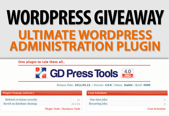 WordPress Giveaway: Ultimate WordPress Administration Plugin