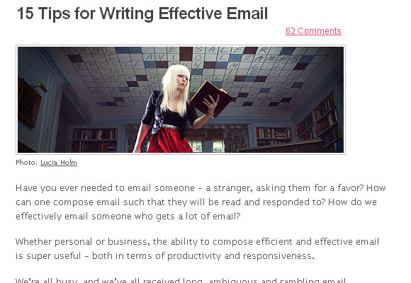 15 Tips for Writing Effective Email